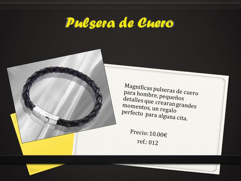 Pulsera de Cuero Magnificas pulseras de cuero para hombre, pequeños detalles que crearan grandes momentos, un regalo perfecto para alguna cita.