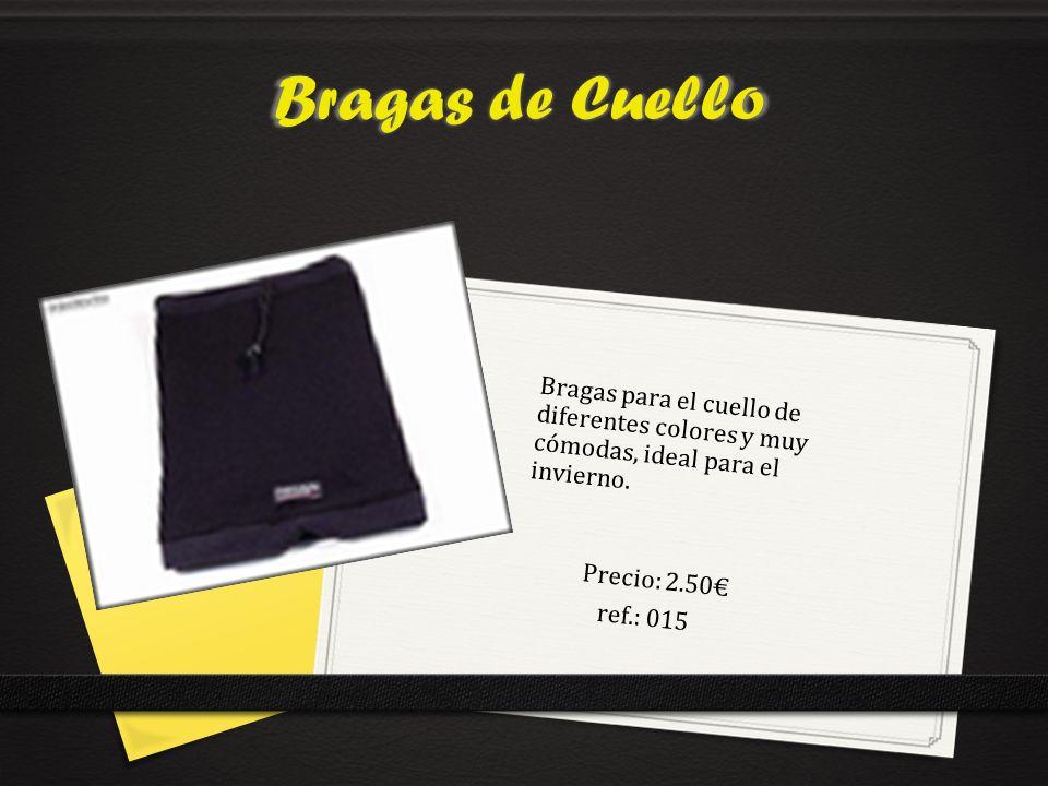 Bragas de Cuello Bragas para el cuello de diferentes colores y muy cómodas, ideal para el invierno.