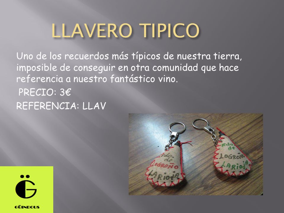 LLAVERO TIPICO