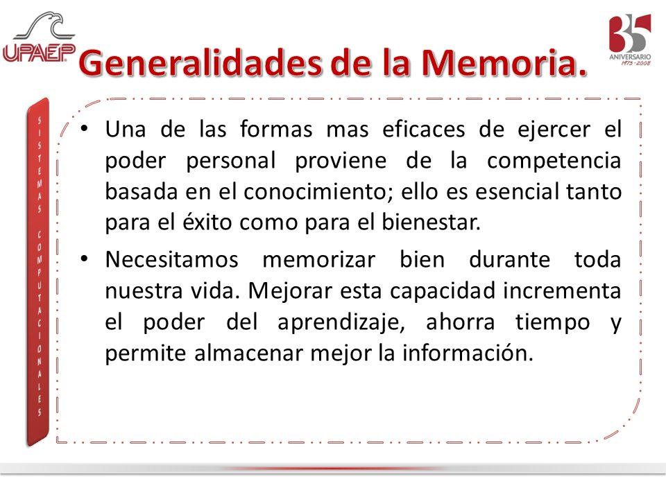 Generalidades de la Memoria.