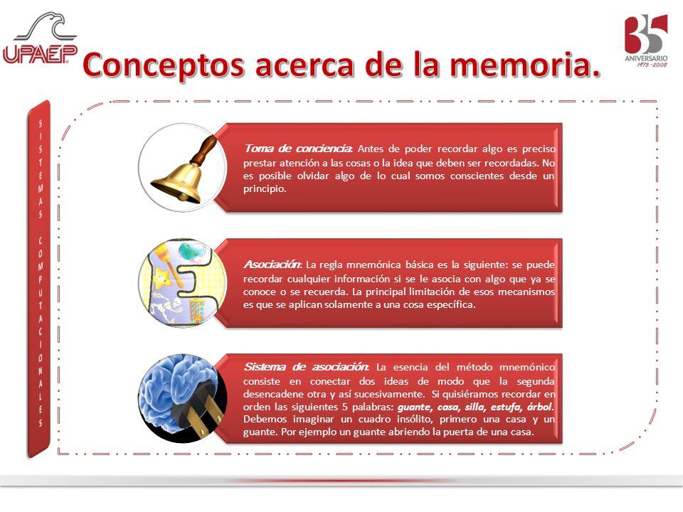 Conceptos acerca de la memoria.