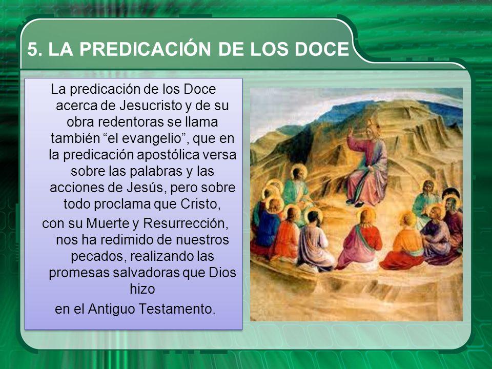 5. LA PREDICACIÓN DE LOS DOCE