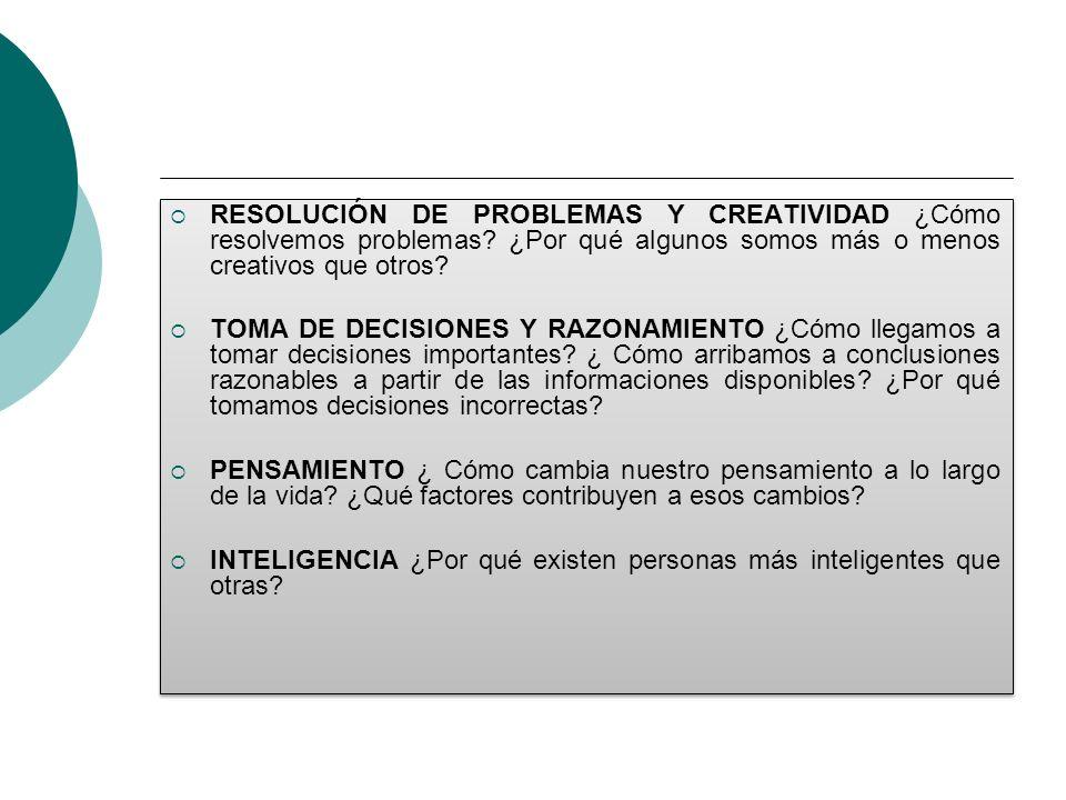 RESOLUCIÓN DE PROBLEMAS Y CREATIVIDAD ¿Cómo resolvemos problemas