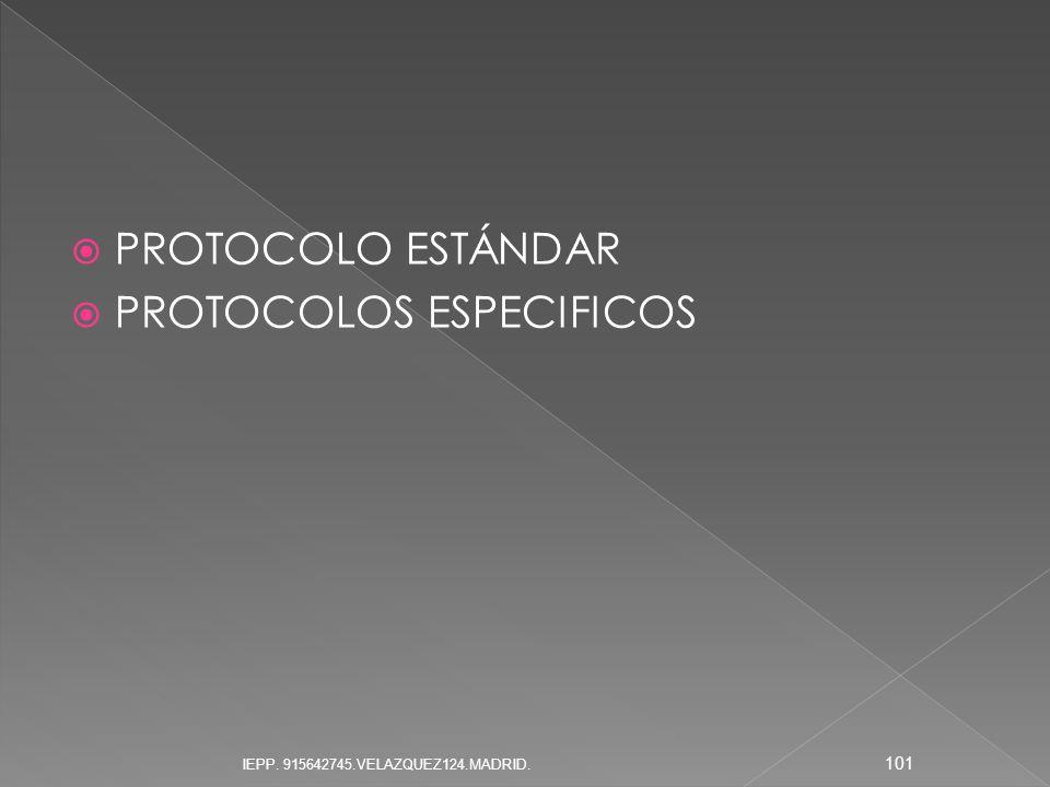PROTOCOLOS ESPECIFICOS