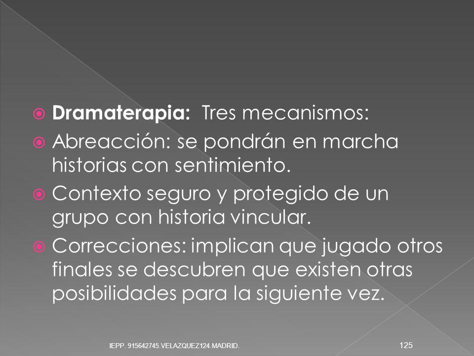 Dramaterapia: Tres mecanismos: