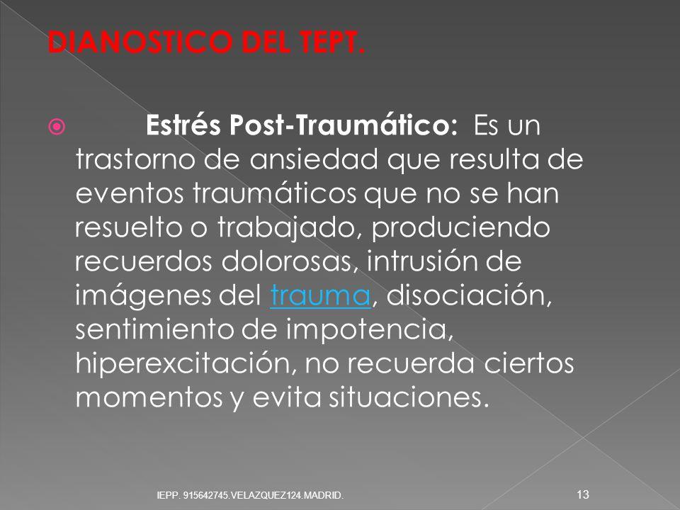 DIANOSTICO DEL TEPT.