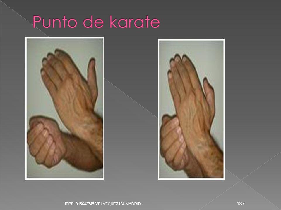 Punto de karate IEPP. 915642745.VELAZQUEZ124.MADRID.