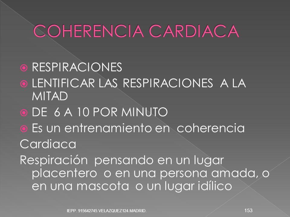 COHERENCIA CARDIACA RESPIRACIONES