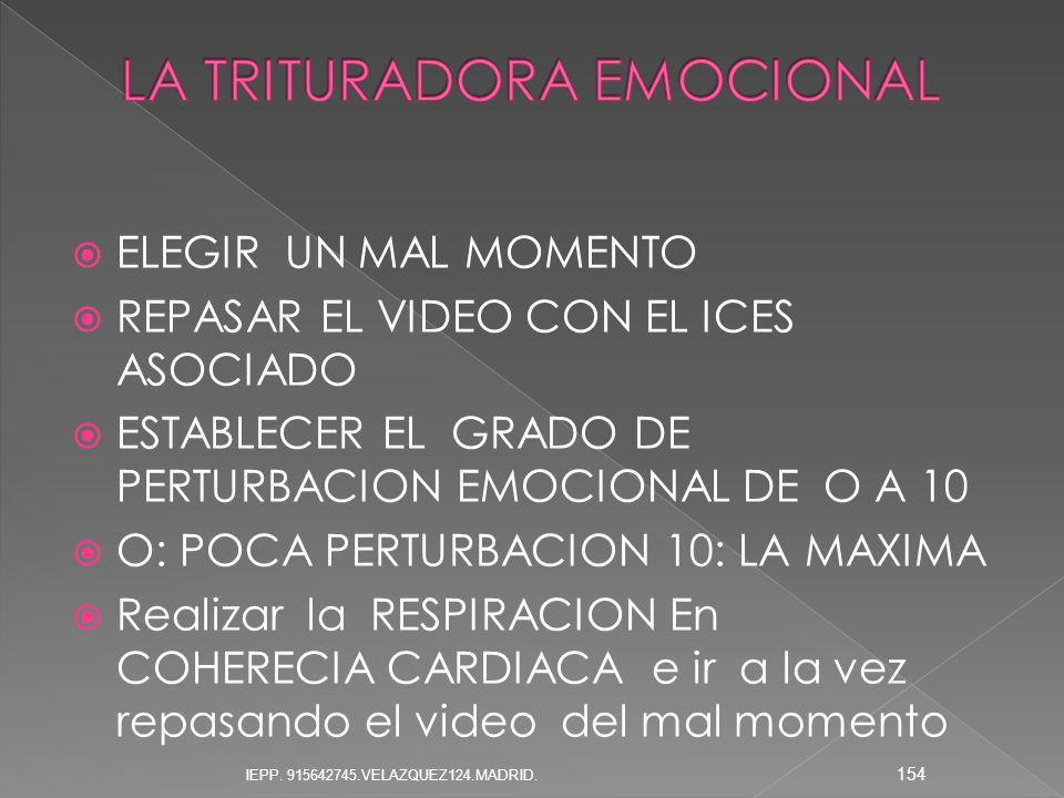 LA TRITURADORA EMOCIONAL