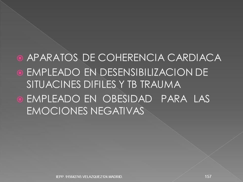 APARATOS DE COHERENCIA CARDIACA