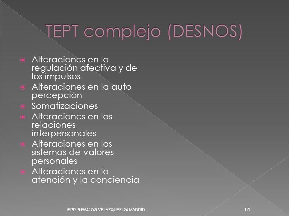 TEPT complejo (DESNOS)
