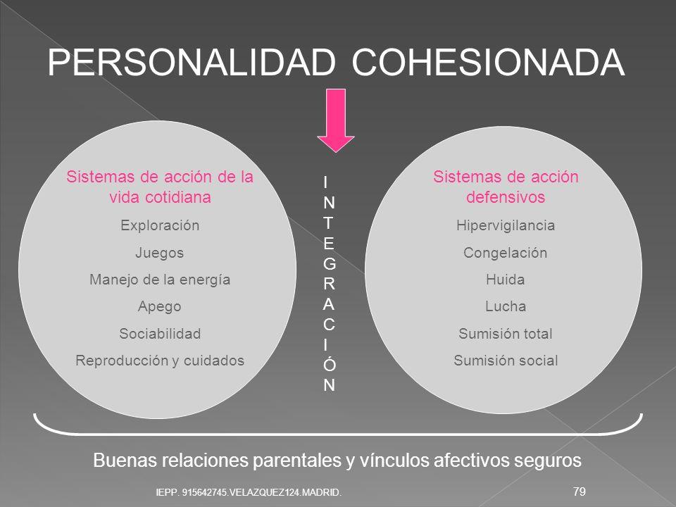 PERSONALIDAD COHESIONADA