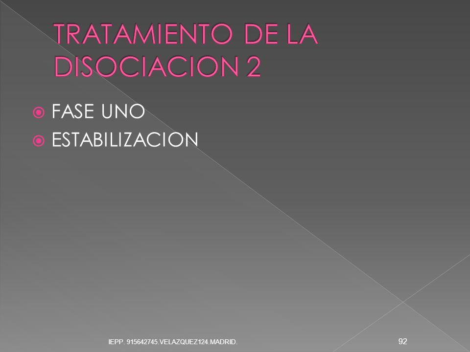 TRATAMIENTO DE LA DISOCIACION 2