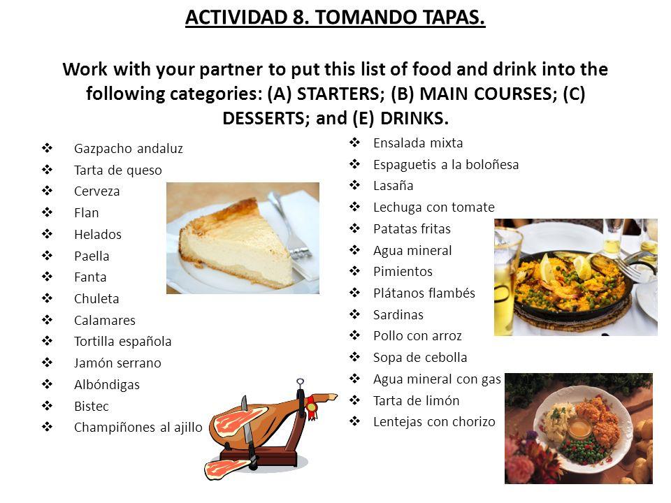 ACTIVIDAD 8. TOMANDO TAPAS