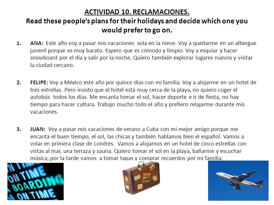 ACTIVIDAD 10. RECLAMACIONES