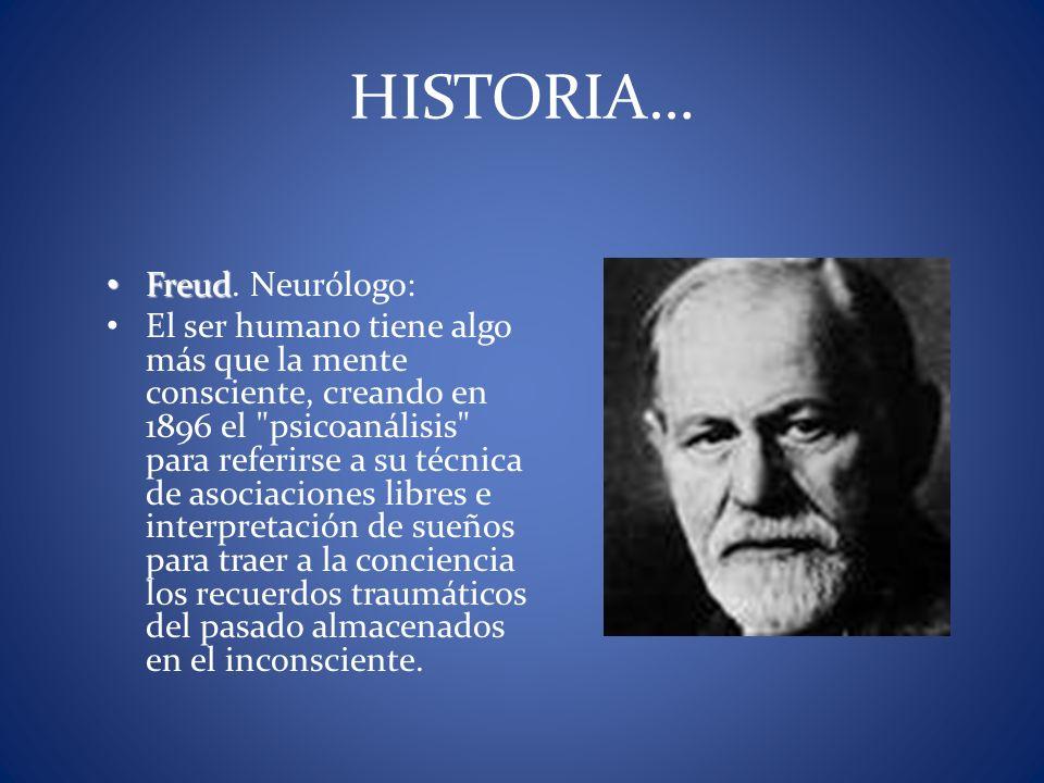 HISTORIA… Freud. Neurólogo: