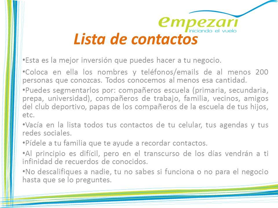 Lista de contactos Esta es la mejor inversión que puedes hacer a tu negocio.