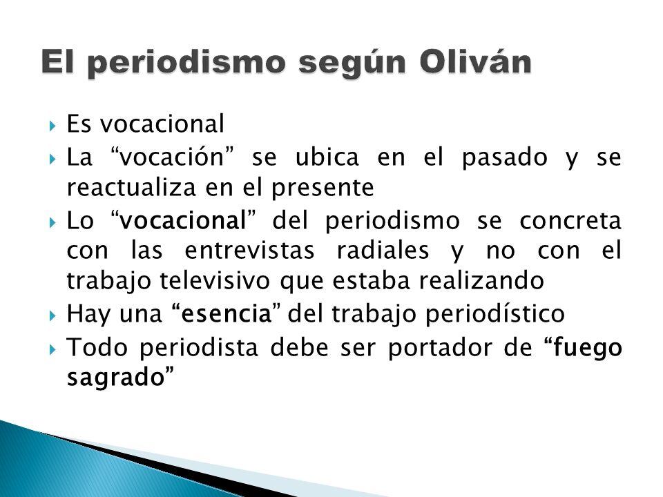 El periodismo según Oliván