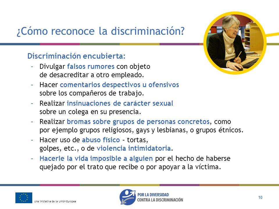 ¿Cómo reconoce la discriminación