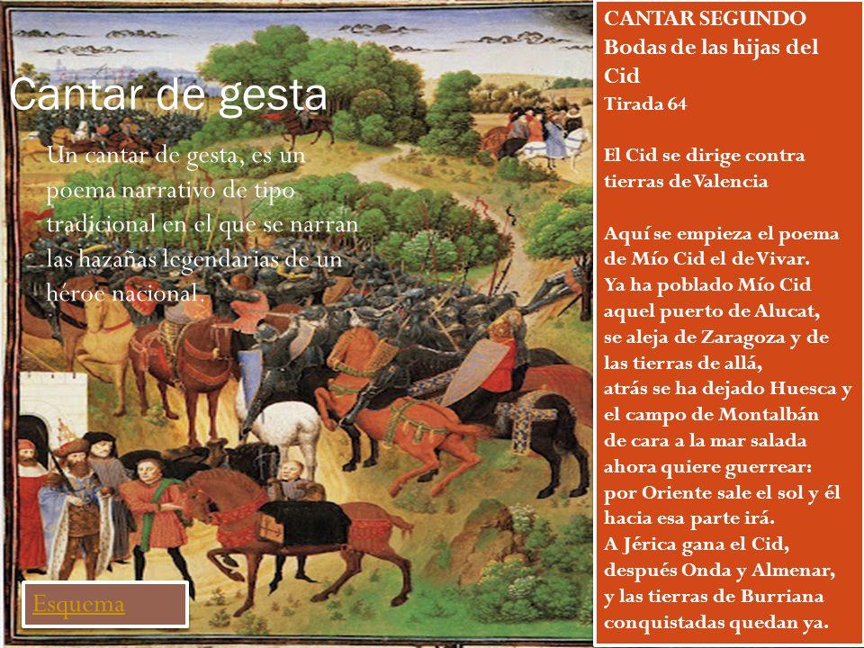 Cantar de gesta CANTAR SEGUNDO Bodas de las hijas del Cid.