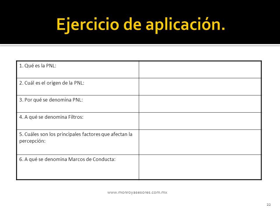 Ejercicio de aplicación.