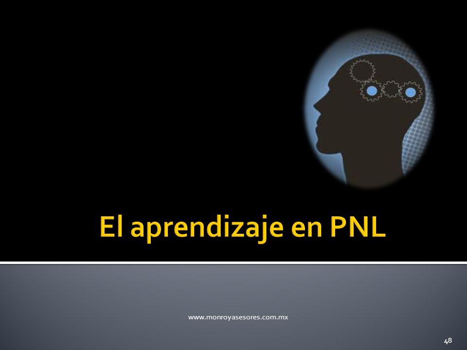 El aprendizaje en PNL www.monroyasesores.com.mx 48