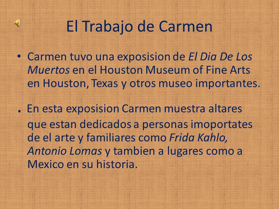 El Trabajo de Carmen