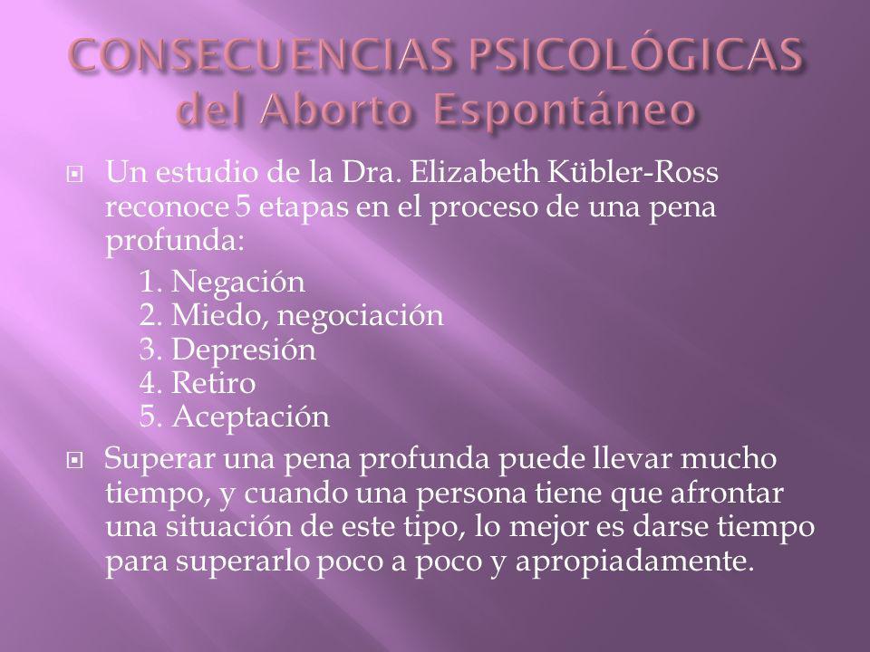 CONSECUENCIAS PSICOLÓGICAS del Aborto Espontáneo
