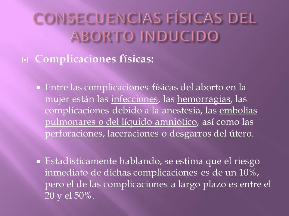 CONSECUENCIAS FÍSICAS DEL ABORTO INDUCIDO