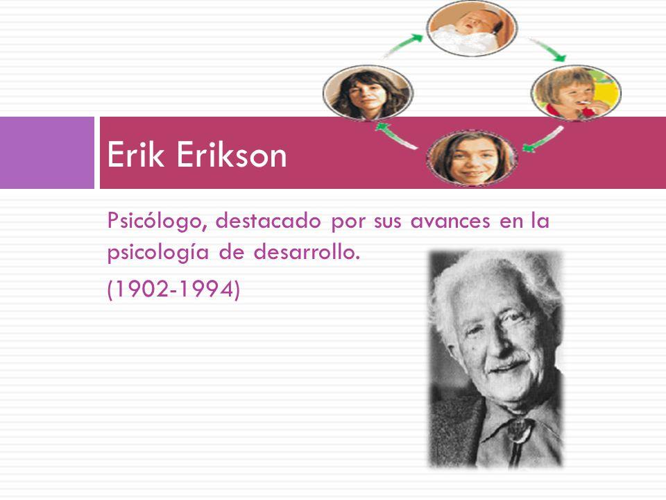Erik Erikson Psicólogo, destacado por sus avances en la psicología de desarrollo. (1902-1994)