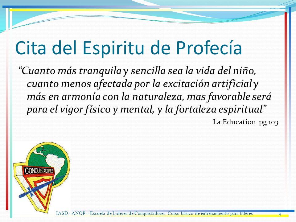 Cita del Espiritu de Profecía