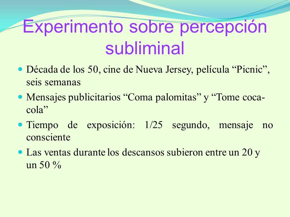 Experimento sobre percepción subliminal