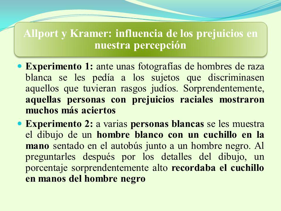 Allport y Kramer: influencia de los prejuicios en nuestra percepción