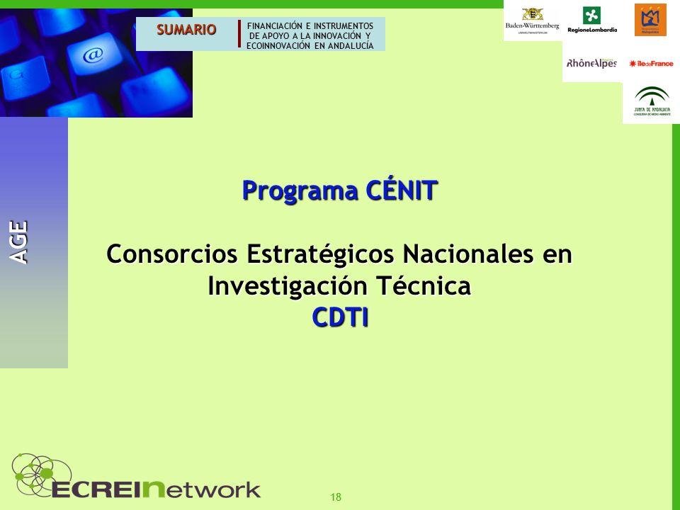 Consorcios Estratégicos Nacionales en Investigación Técnica