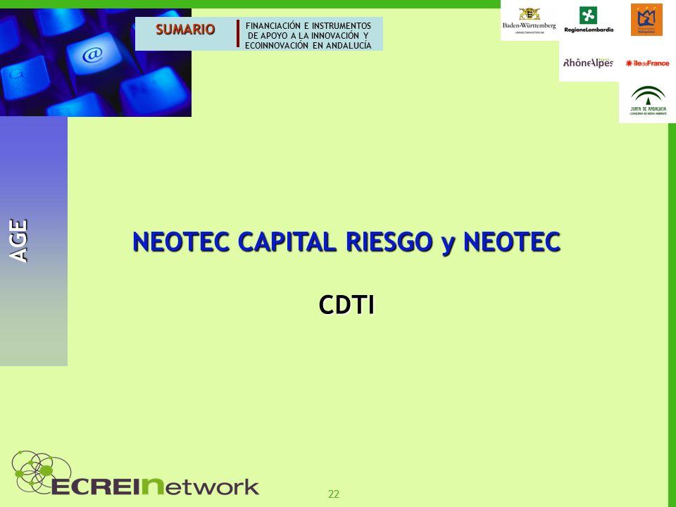 NEOTEC CAPITAL RIESGO y NEOTEC