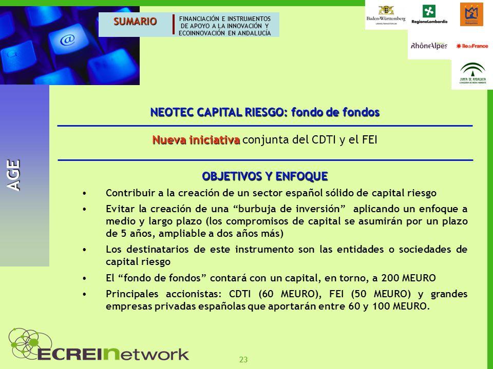 NEOTEC CAPITAL RIESGO: fondo de fondos
