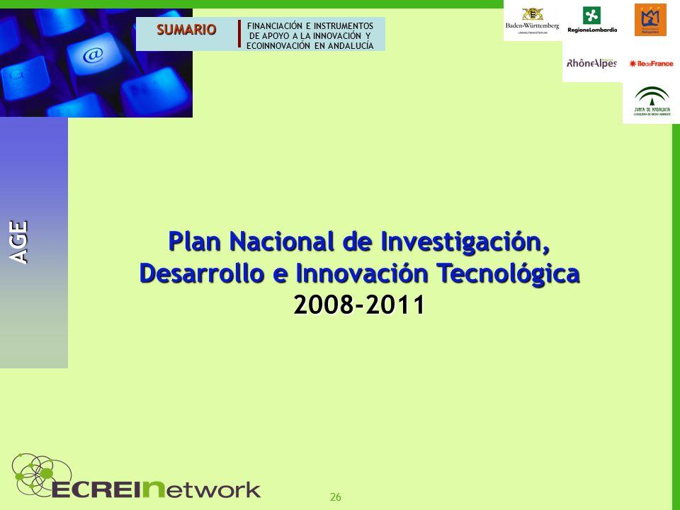 Plan Nacional de Investigación, Desarrollo e Innovación Tecnológica