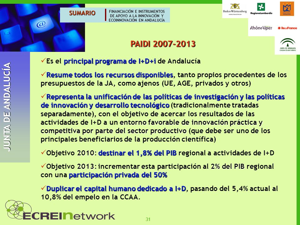 JUNTA DE ANDALUCÍA PAIDI 2007-2013