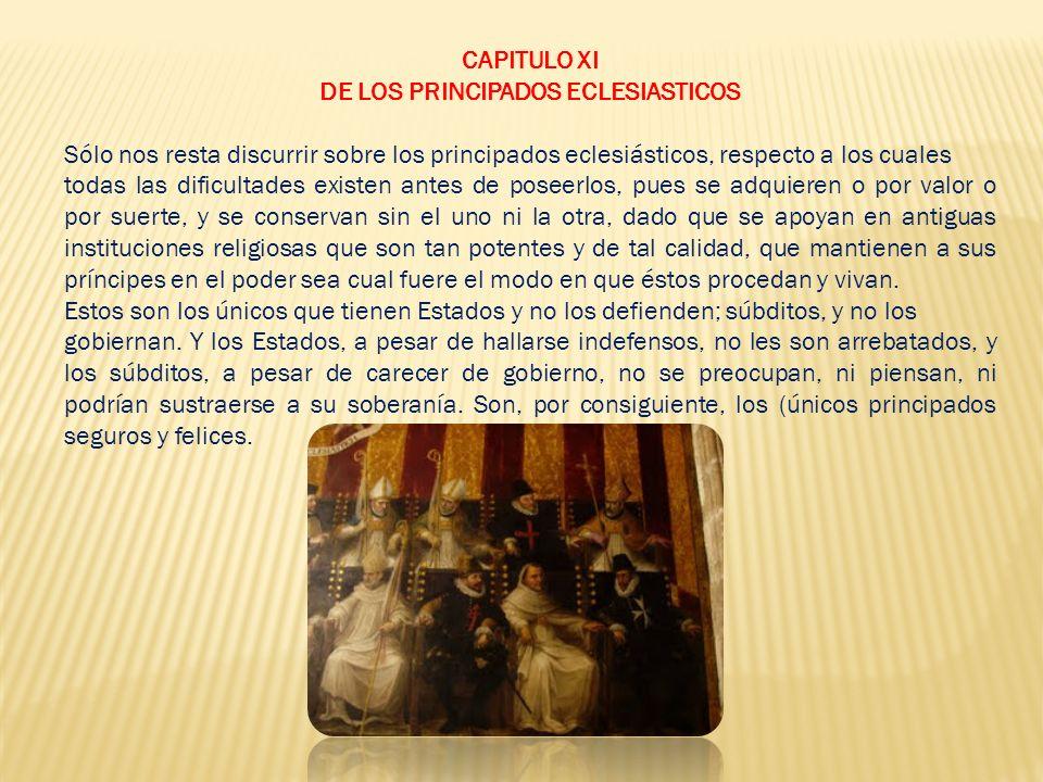 DE LOS PRINCIPADOS ECLESIASTICOS