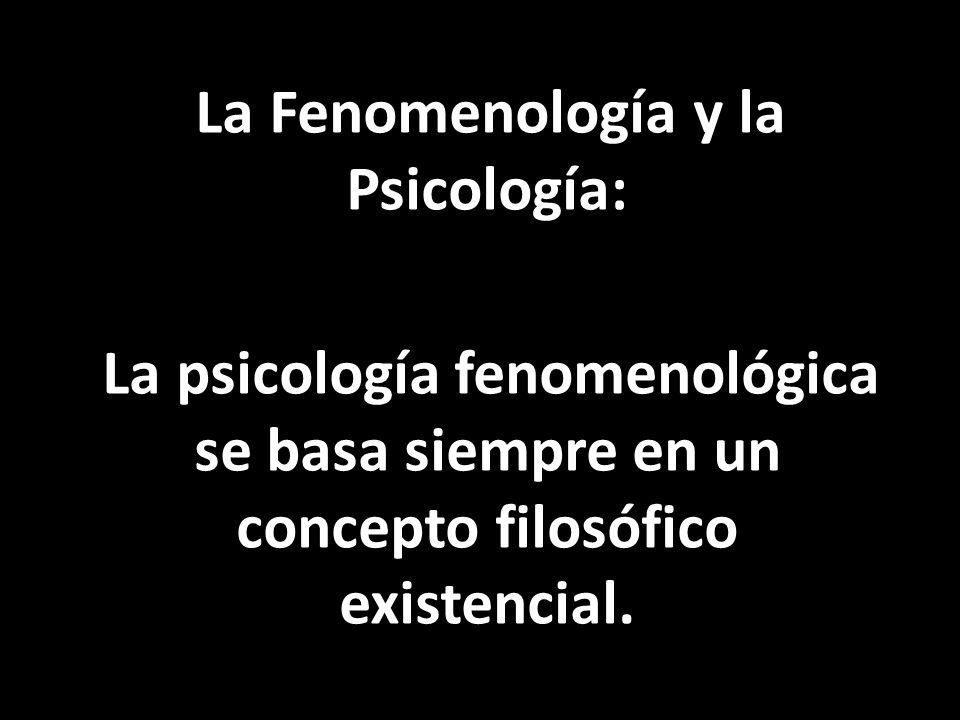 La Fenomenología y la Psicología: