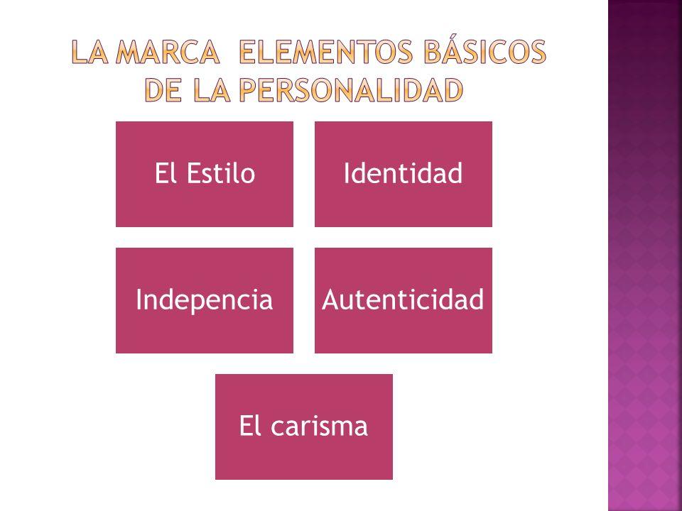 La marca Elementos básicos de la personalidad