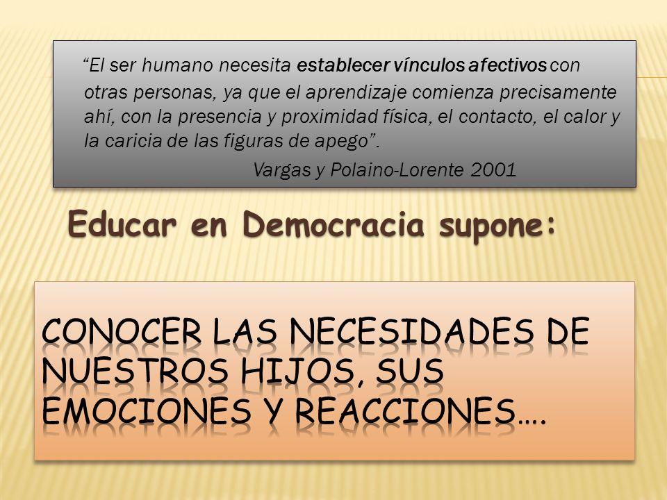 Educar en Democracia supone: