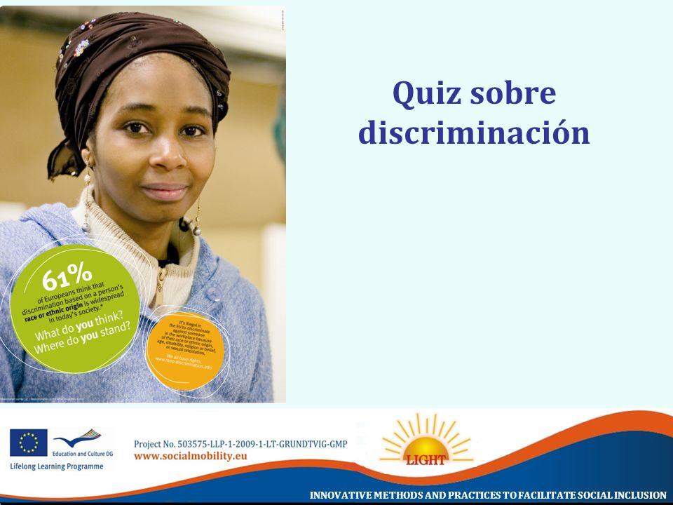 Quiz sobre discriminación