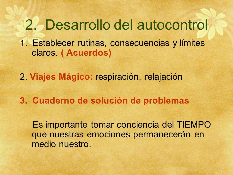 2. Desarrollo del autocontrol
