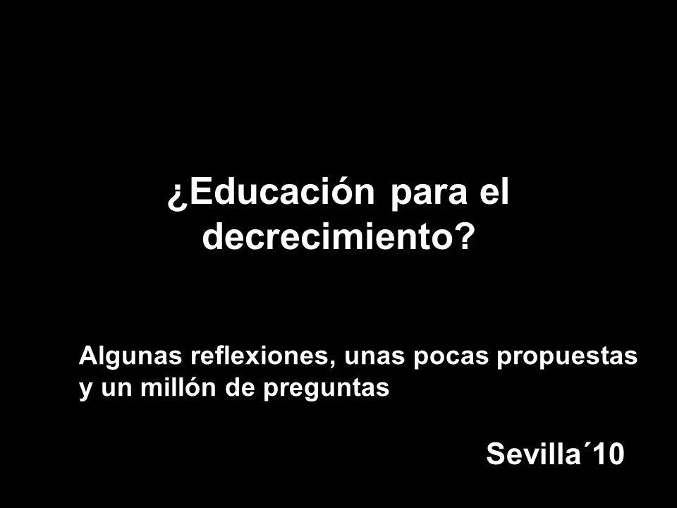 ¿Educación para el decrecimiento