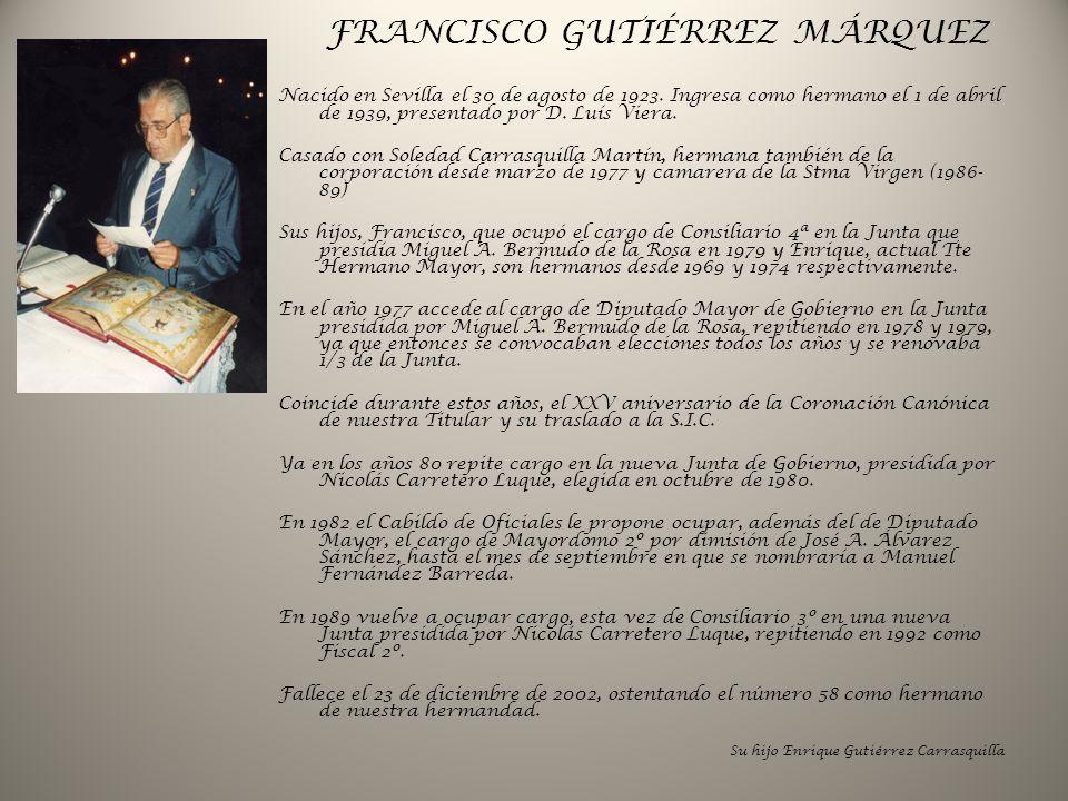 FRANCISCO GUTIÉRREZ MÁRQUEZ