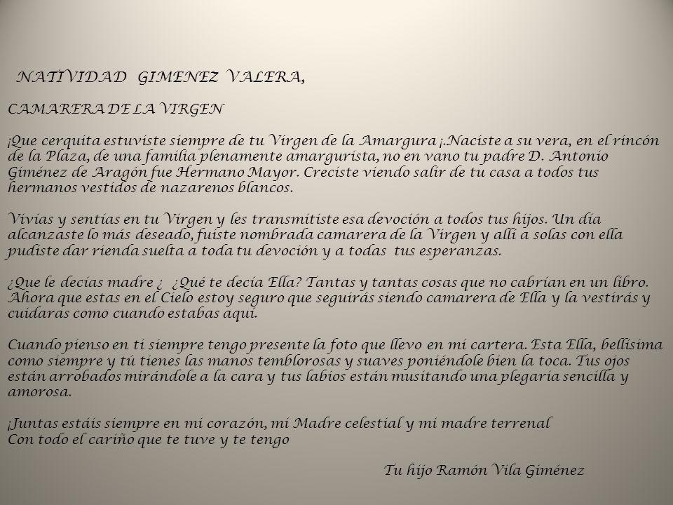 NATIVIDAD GIMENEZ VALERA,
