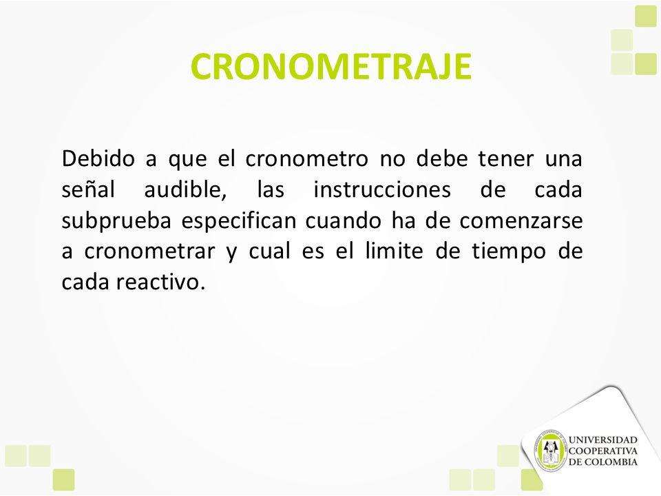 CRONOMETRAJE