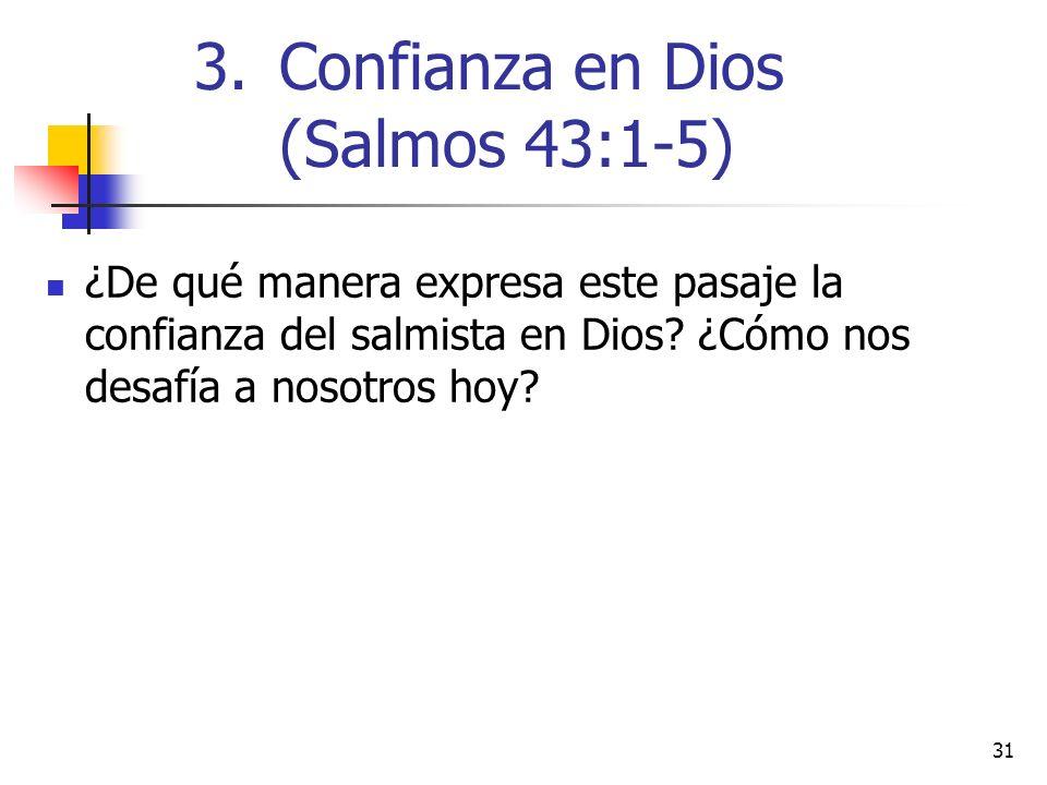 Confianza en Dios (Salmos 43:1-5)