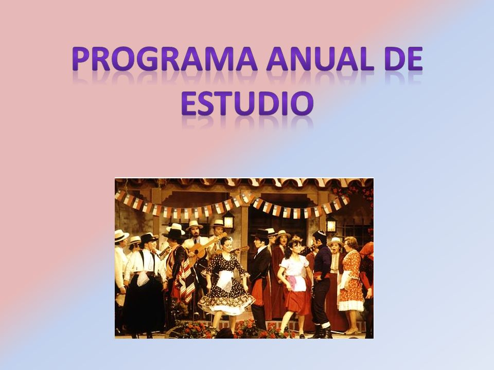 Programa Anual de Estudio